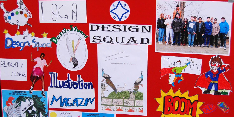 Ein Plakat über Design Squad