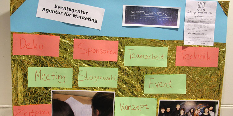 Plakat über Eventagentur, Agentur für Marketing