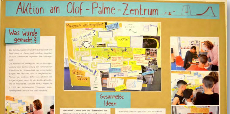 "Plakat zu ""Aktion am Olof-Palme-Zentrum"""
