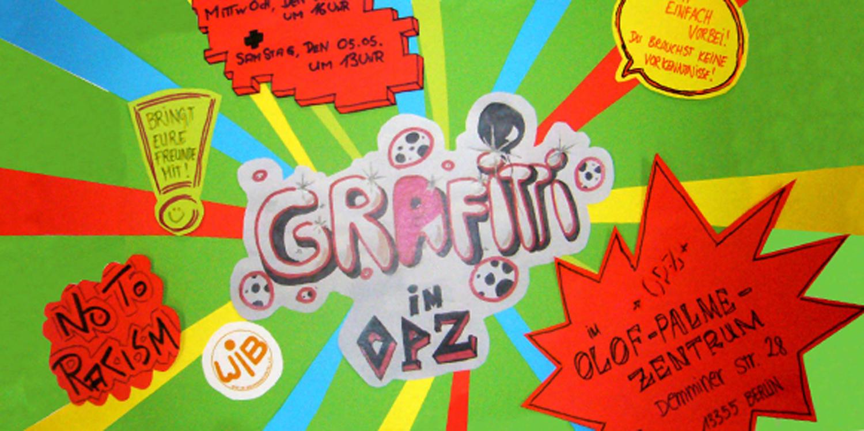 Grafitti im Olof-Palme-Zentrum