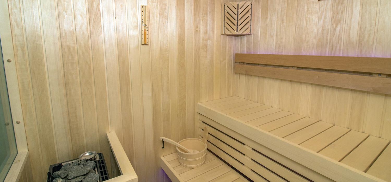 Eine Sauna