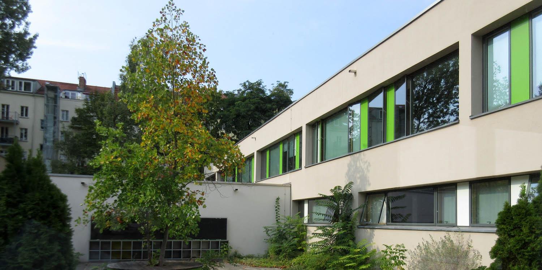Teil des Schulgebäudes der Temple-Grandin-Schule