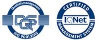 DQS-zertifiziert nach DIN EN ISO 9001:2015 Zertifikat-Register-Nr. 243754 QM15