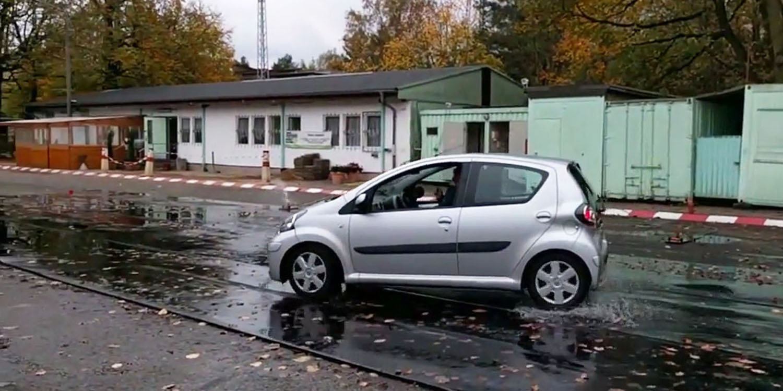 Fahrsicherheitstraining für unsere Kolleg/innen, die viel mit dem Auto unterwegs sind.