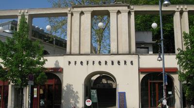 Frntansicht der Arcaden des modernisierten Pfefferberges