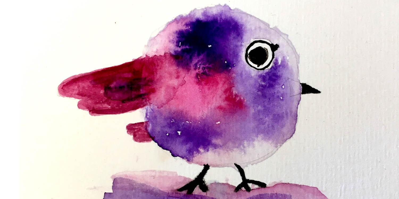 Kleiner runder Vogel