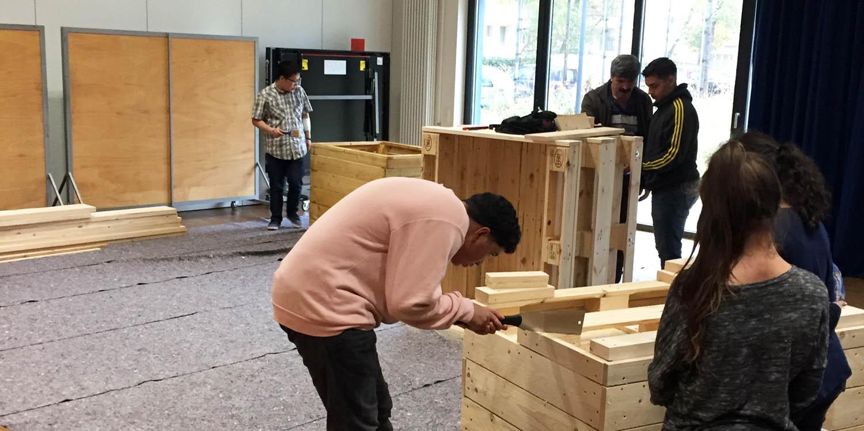 Bei Holzarbeiten