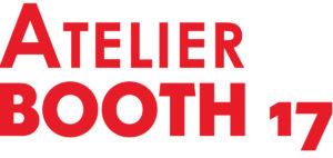 Logo als Word-Bild-Marke mit dem Schriftzug ATELIER BOOTH 17